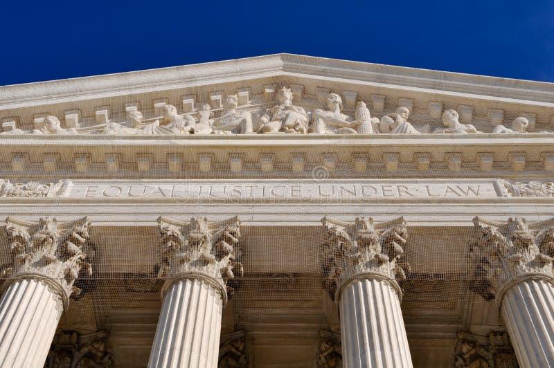 Colonne della Corte suprema degli Stati Uniti immagine stock