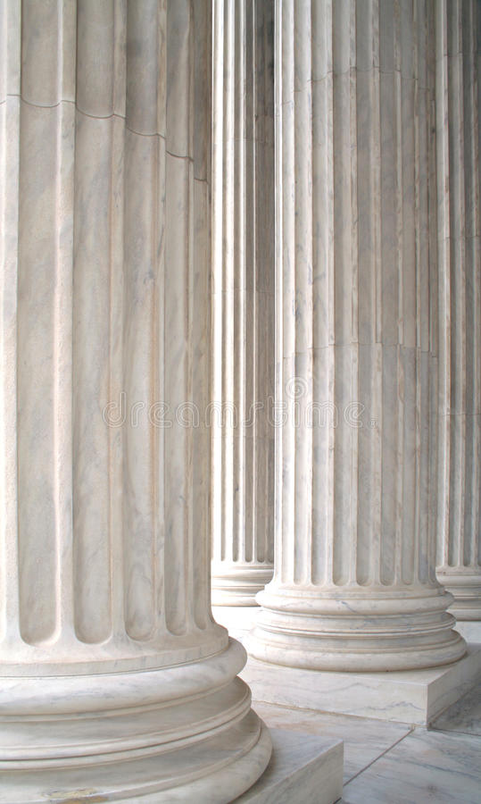 Colonne di marmo bianche immagine stock libera da diritti