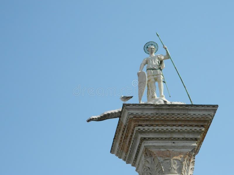 Colonne di San Marco e San Todaro arkivfoto