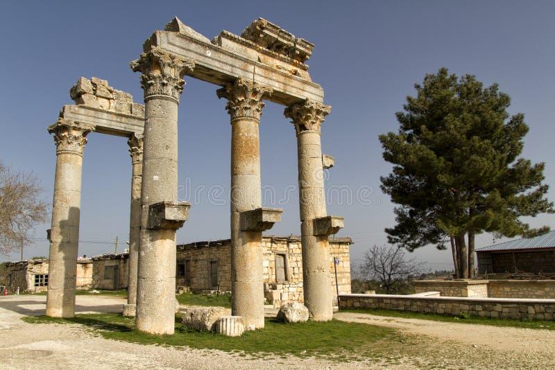 Colonne in Diocaesarea Olba, Mersin - Turchia immagine stock libera da diritti