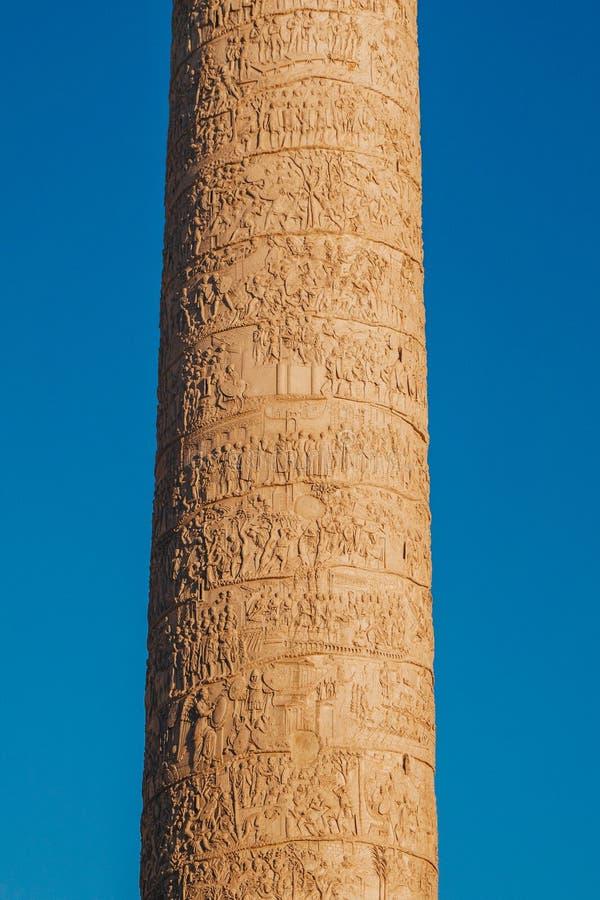 Colonne du ` s de Trajan Colonna Traiana à Rome, Italie Commémore R image libre de droits