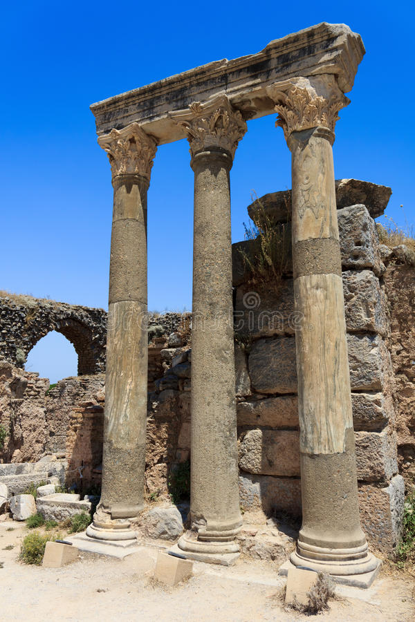 Colonne a Ephesus, Turchia immagine stock