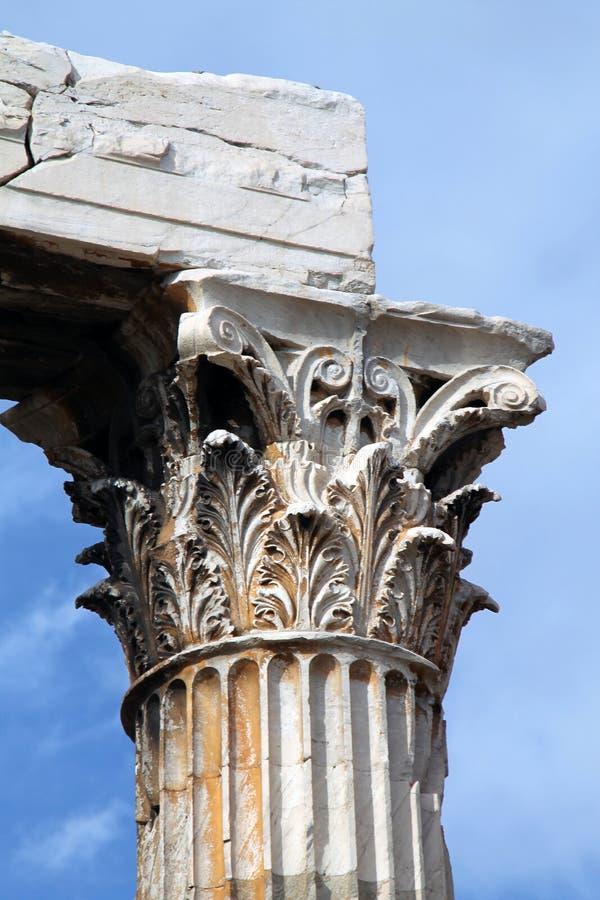 Colonne Grèce de détail photographie stock libre de droits