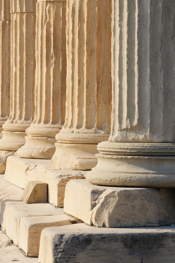 Colonne greche fotografie stock