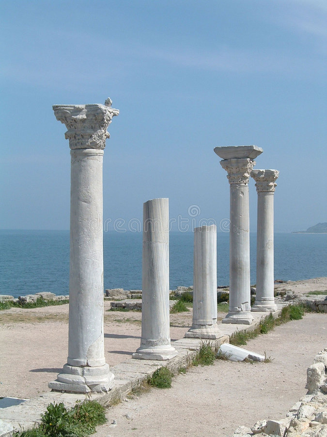 Colonne greche fotografia stock libera da diritti