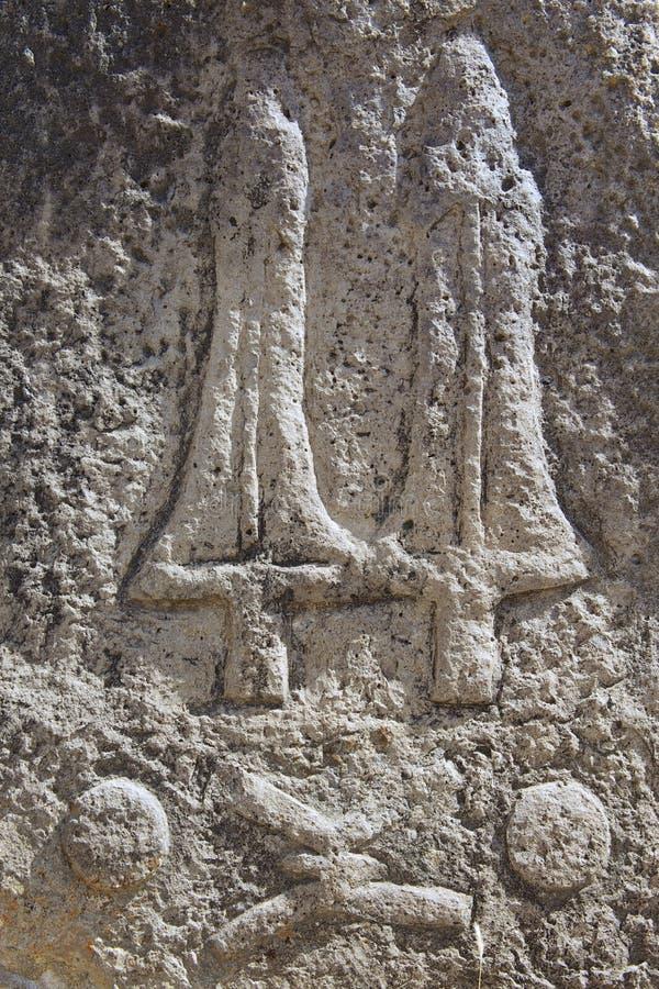 Colonne megalitiche misteriose di Tiya, sito del patrimonio mondiale dell'Unesco, Etiopia fotografie stock