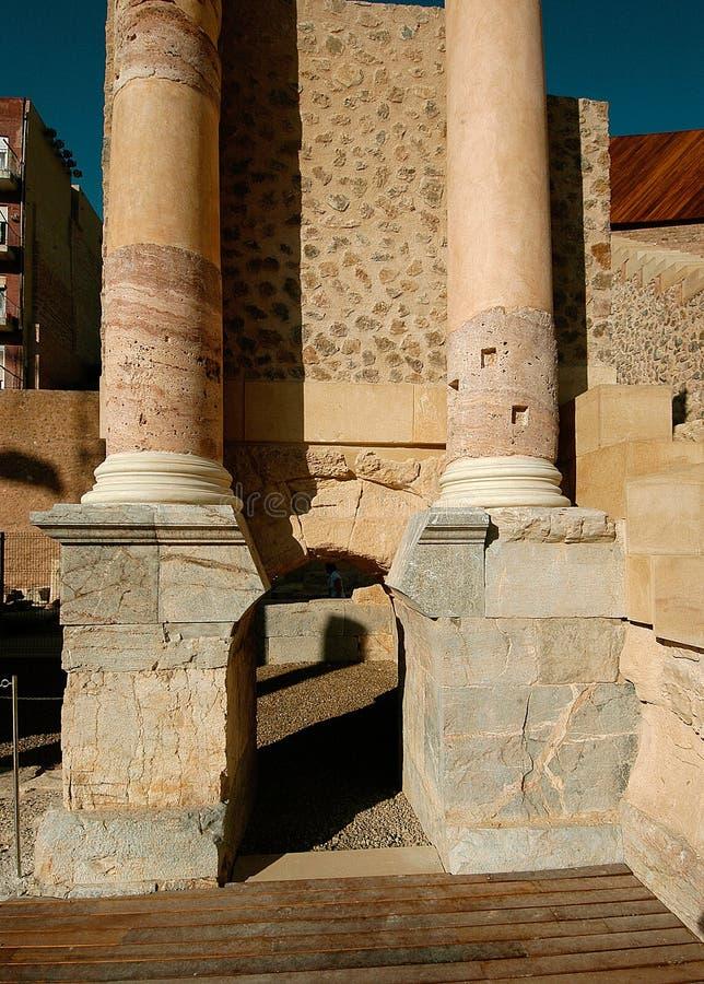 Colonne a Roman Theater immagine stock libera da diritti