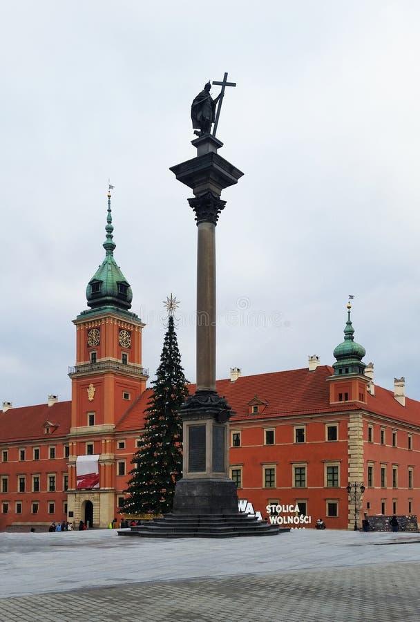 Colonne Sigismund III à Varsovie, située sur la place de château à Varsovie poland photographie stock