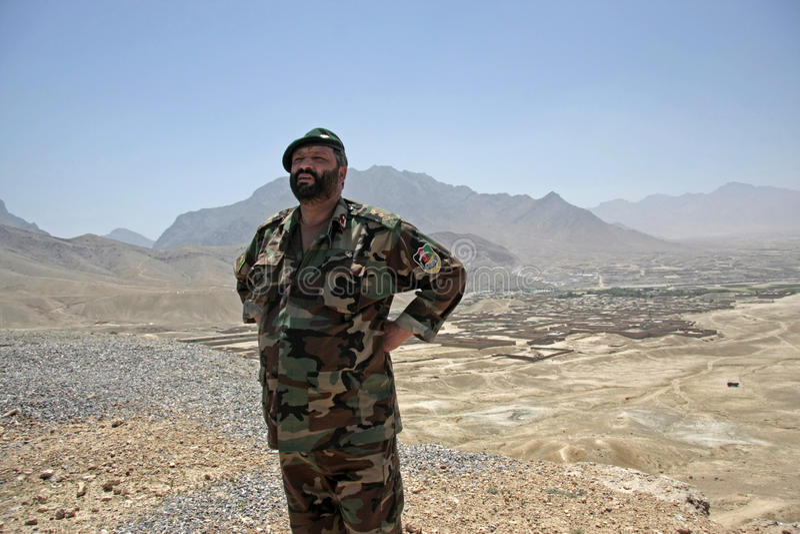 Colonnello dell'esercito afgano fotografia stock libera da diritti