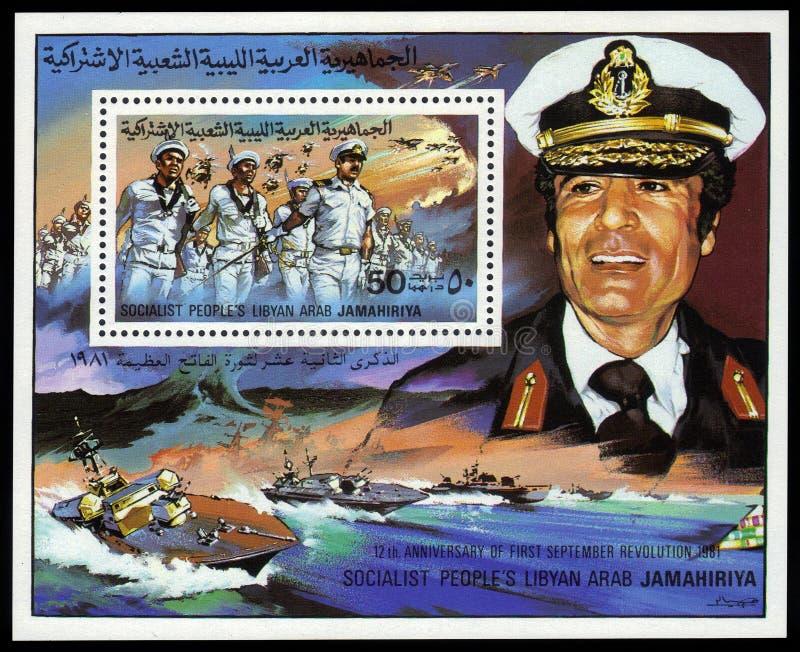 Colonnello Muammar Gaddafi immagini stock libere da diritti