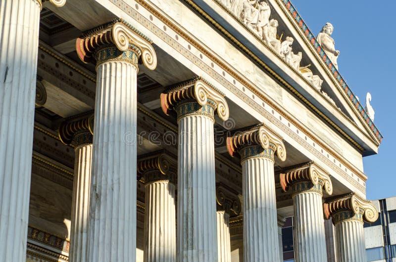 Download Colonnes D'académie D'Athènes Photo stock - Image du europe, marbre: 87705490