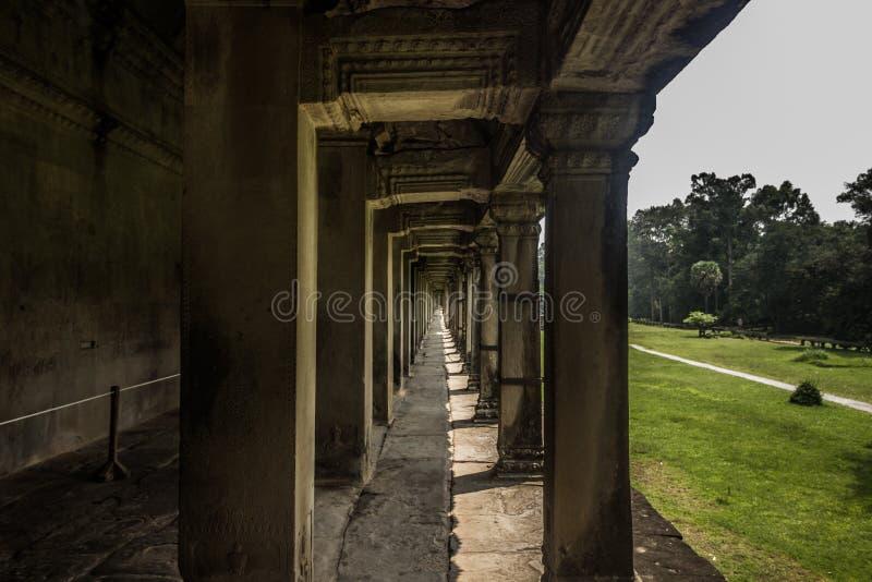 Colonnes dans Angkor Vat, Cambodge images stock