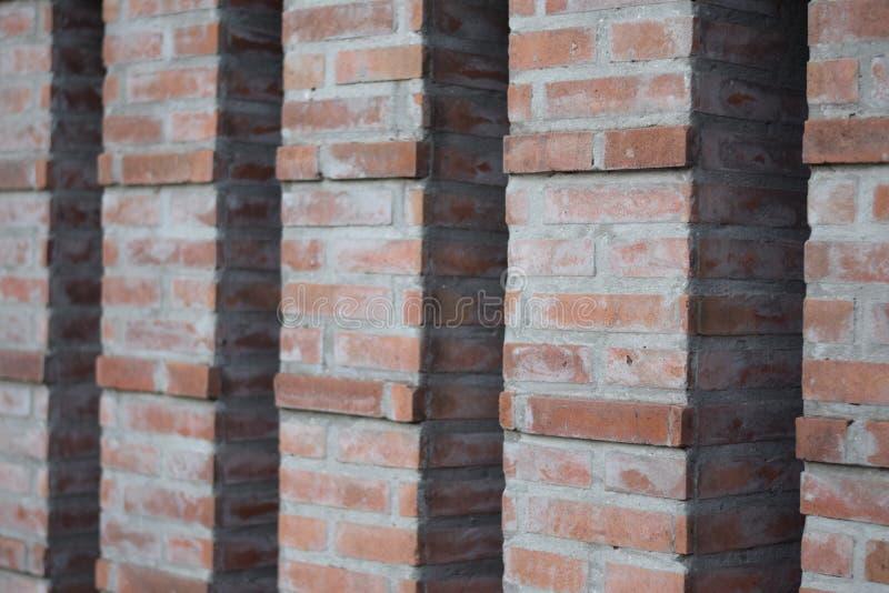Colonnes de fond de briques photos libres de droits