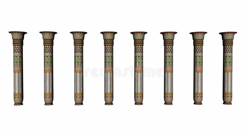 Colonnes de l'Egypte - 3D rendent illustration de vecteur