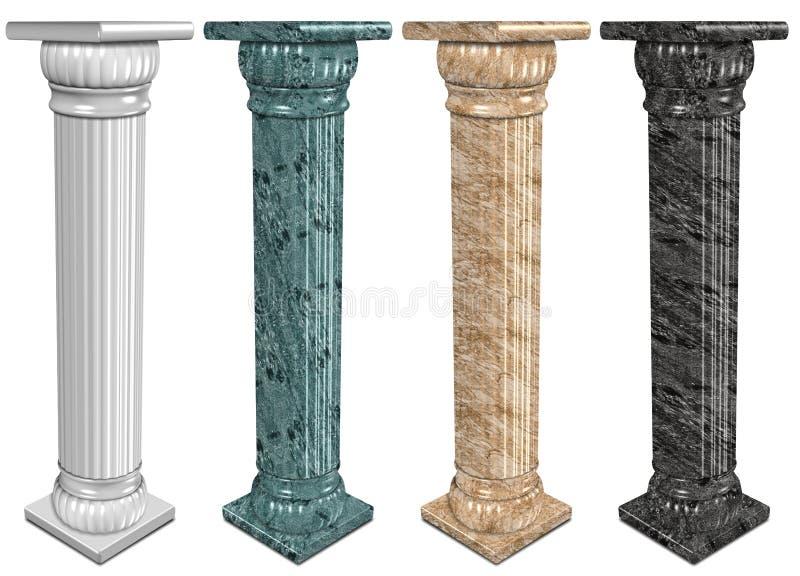 Colonnes de marbre illustration stock