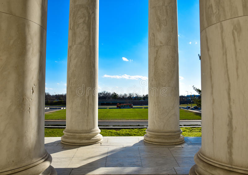 Colonnes de Thomas Jefferson Memorial Washington DC, Etats-Unis photo libre de droits