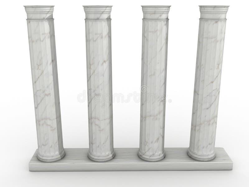 Colonnes grecques de marbre #3 illustration stock