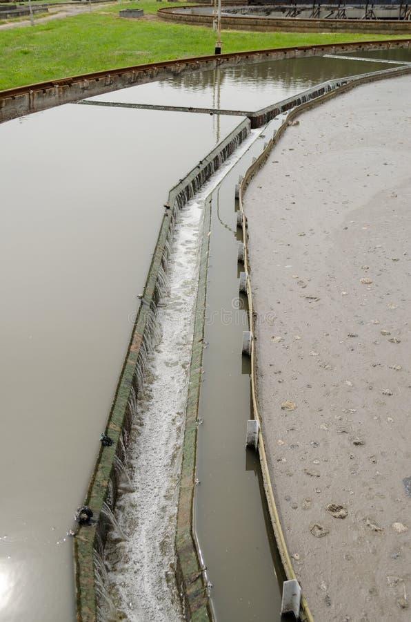 Colono radial cercano en la invitación del agua de las aguas residuales imágenes de archivo libres de regalías