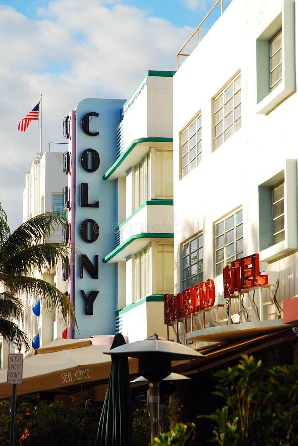 South Beach Miami Boulevard Hotel Editorial Image