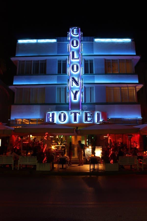 Miami Beach Sign Stock Photo. Image Of Classic, Neon