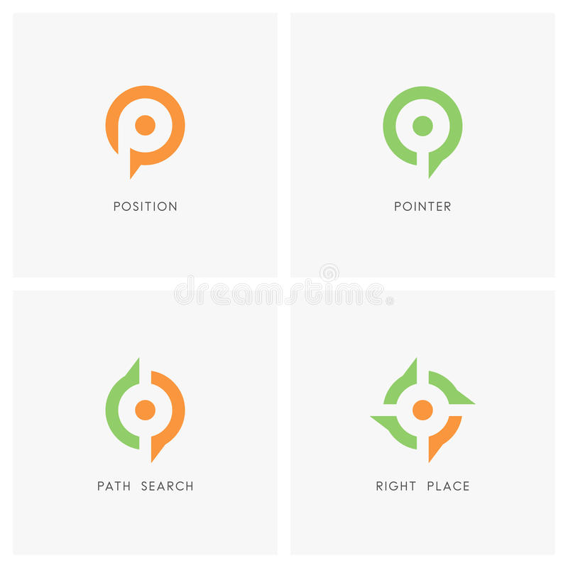 Coloque el sistema del logotipo del indicador libre illustration