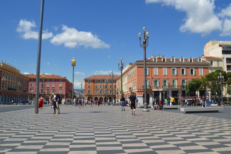 Coloque Massena en Niza imagenes de archivo