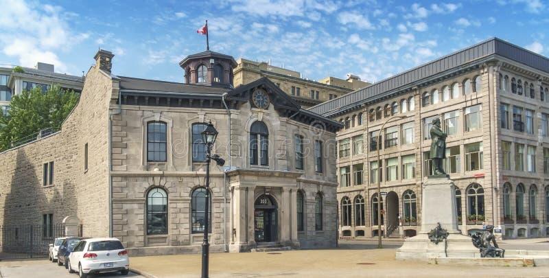 Coloque Montreal velho real fotos de stock royalty free