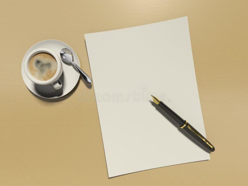 Coloque o café ilustração do vetor