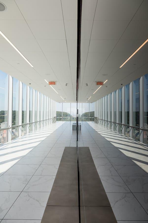 Coloque a plataforma de observação de Ville Marie em Montreal imagem de stock