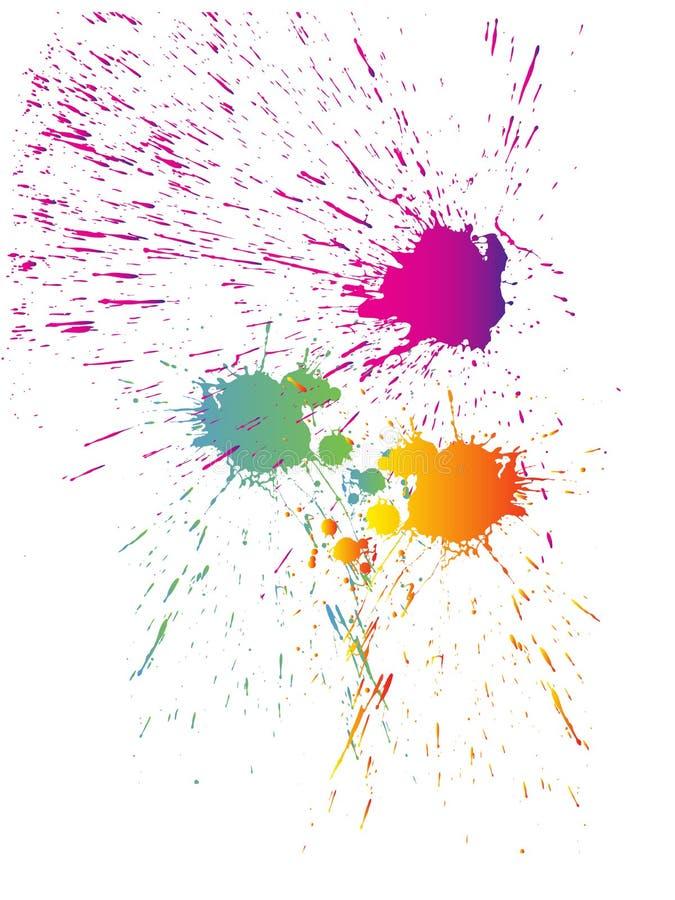 Coloré éclabousse illustration de vecteur