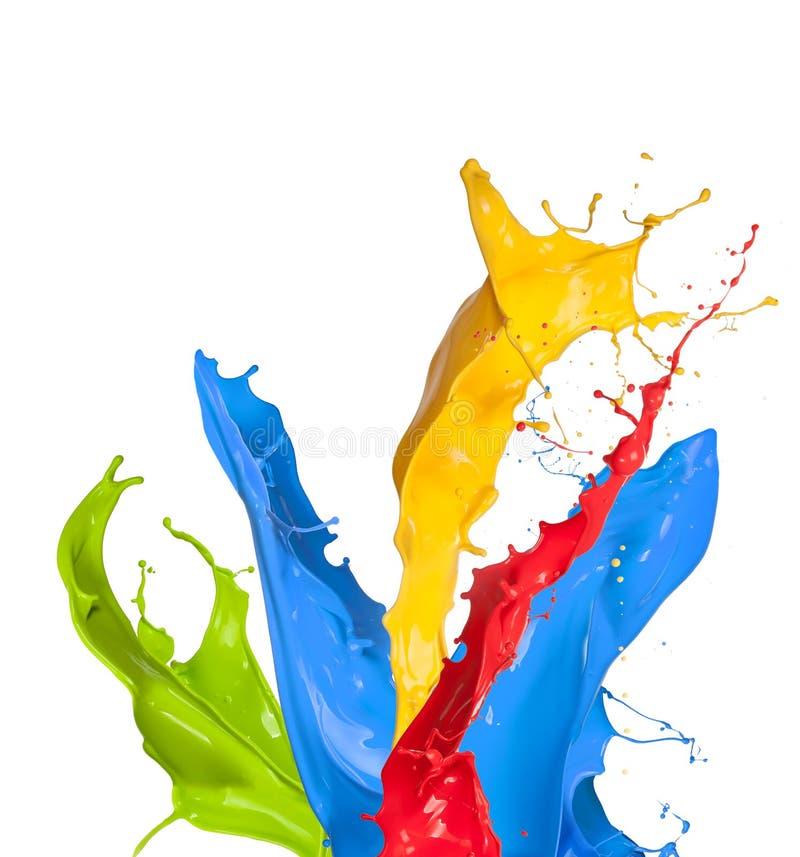 Coloré éclabousse images stock