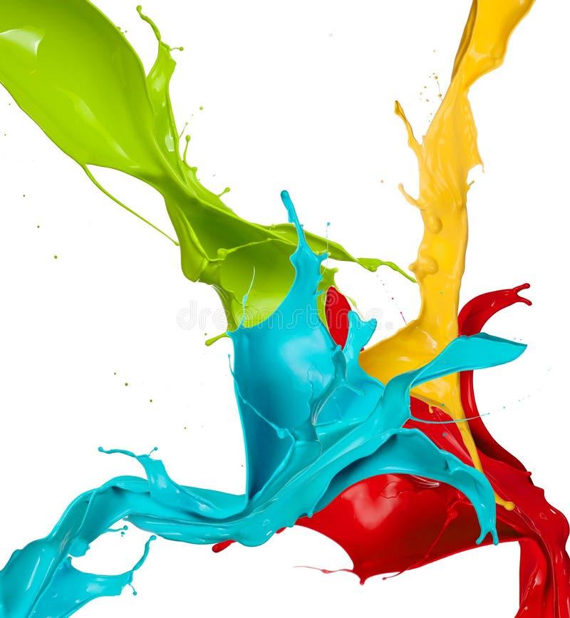 Coloré éclabousse images libres de droits