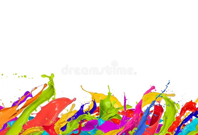 Coloré éclabousse photographie stock
