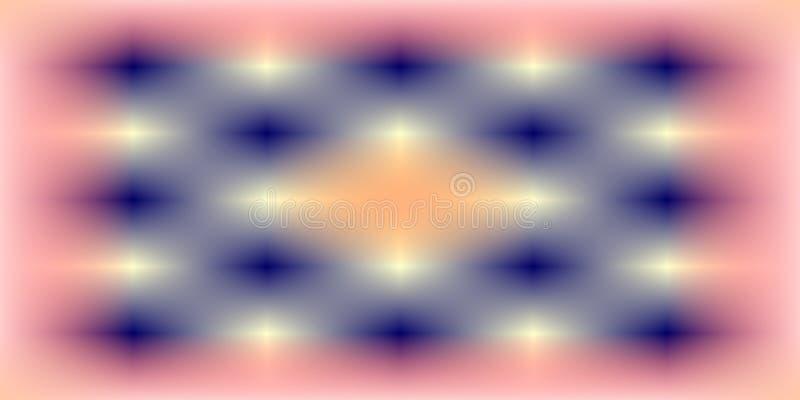 Coloré, brillant, ombragé et allumé avec le fond d'image d'effet de 3 d et la conception générés par ordinateur de wallapaper illustration de vecteur