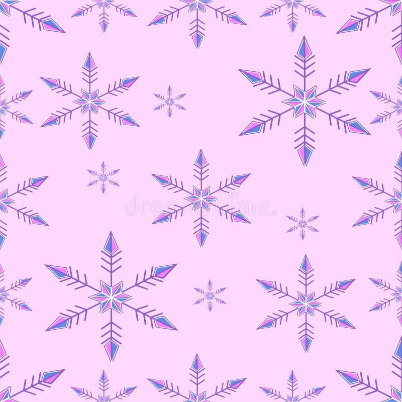 - Coloré - chute sans couture de flocons de neige image libre de droits