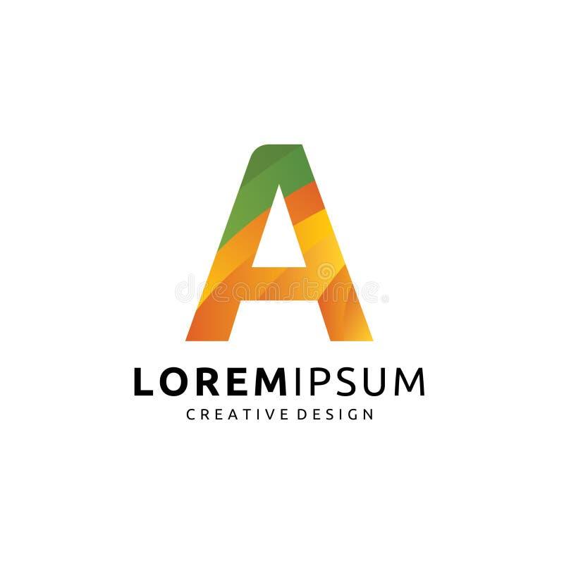 Coloré créatif de media un logo de lettre illustration stock