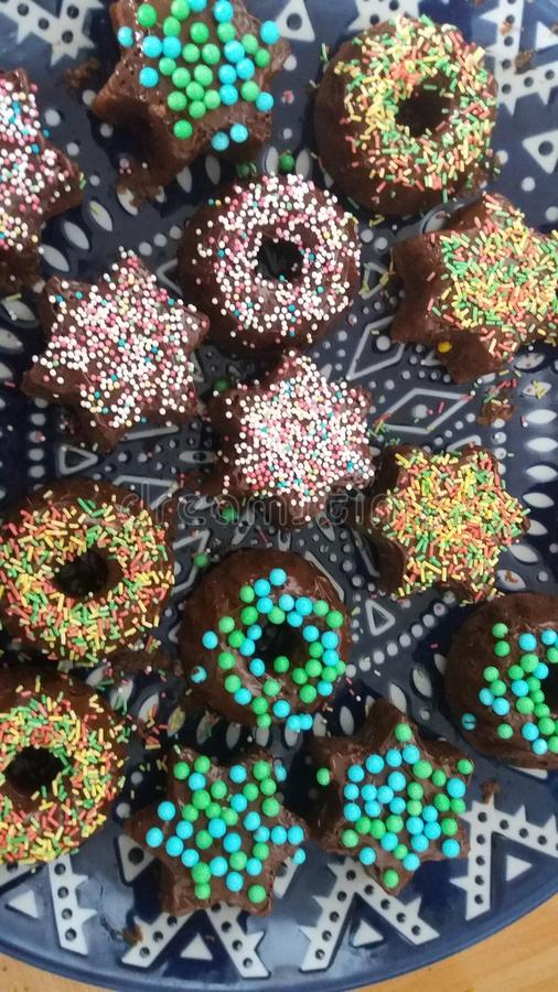 coloré délicieux de biscuits images libres de droits