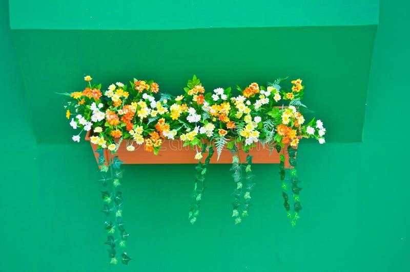 Coloré de la fleur sur la fenêtre images stock