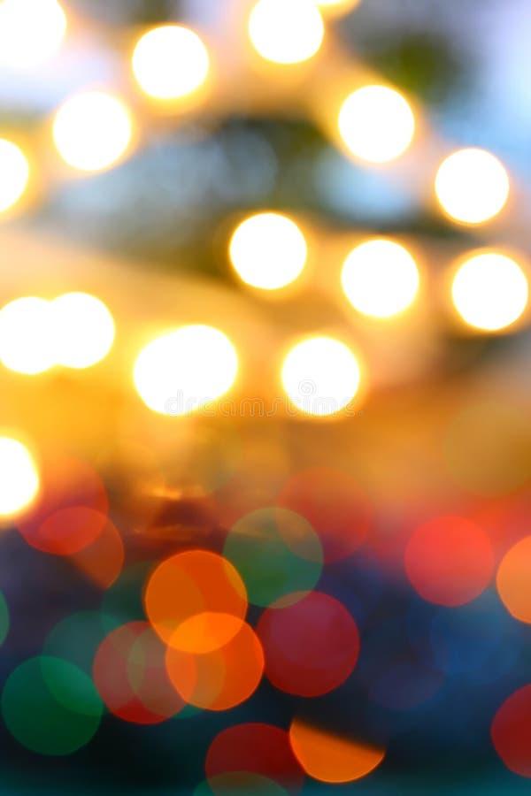 Coloré de la tache floue de lumière de lueur image libre de droits