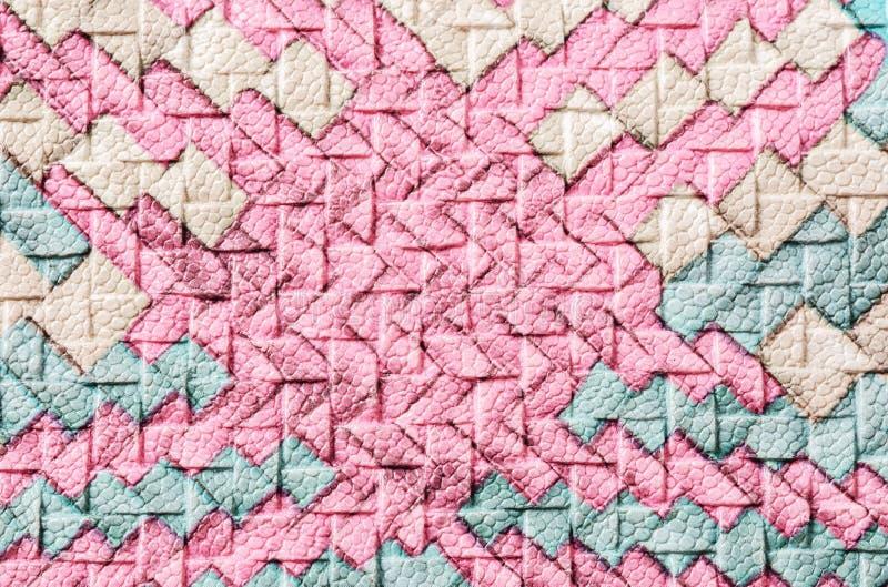 Coloré de la texture d'armure de cuir artificiel image libre de droits