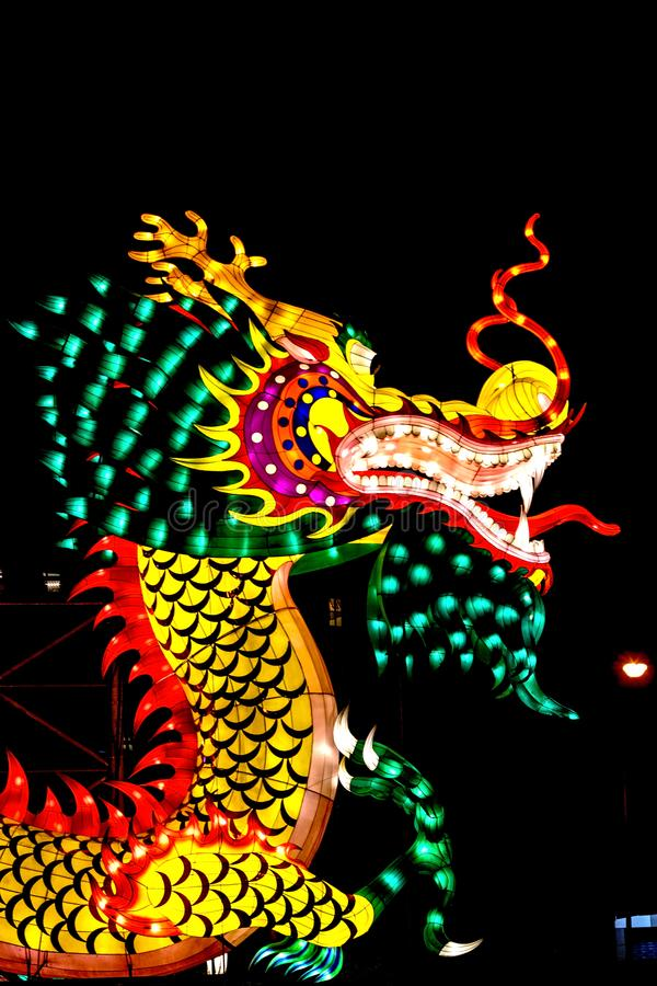 Coloré du dragon, nouvelle année de Chinois image stock