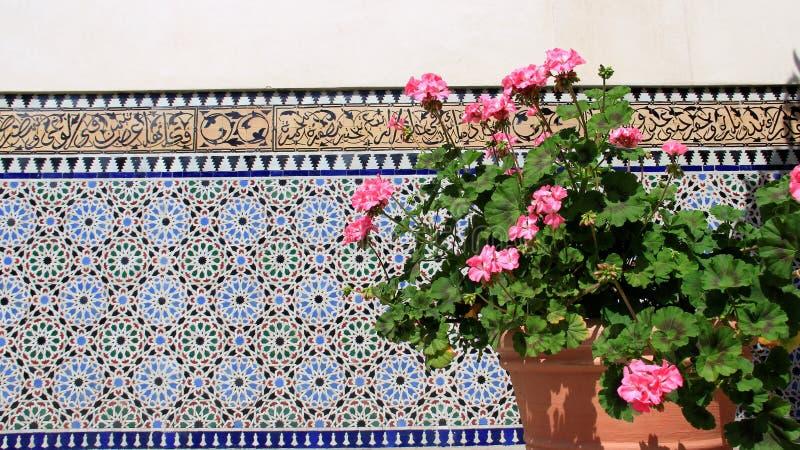Coloré du jardin de balcon de l'Orient image stock