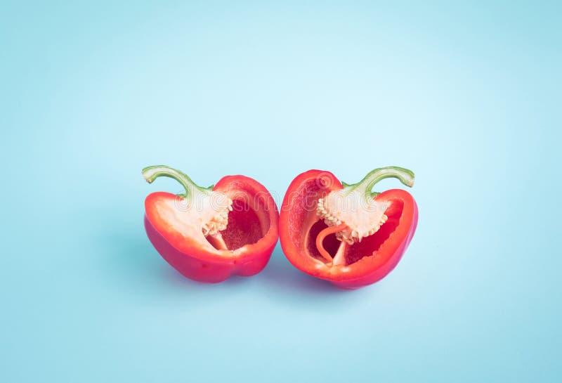 Coloré du paprika, tranche de piments images libres de droits