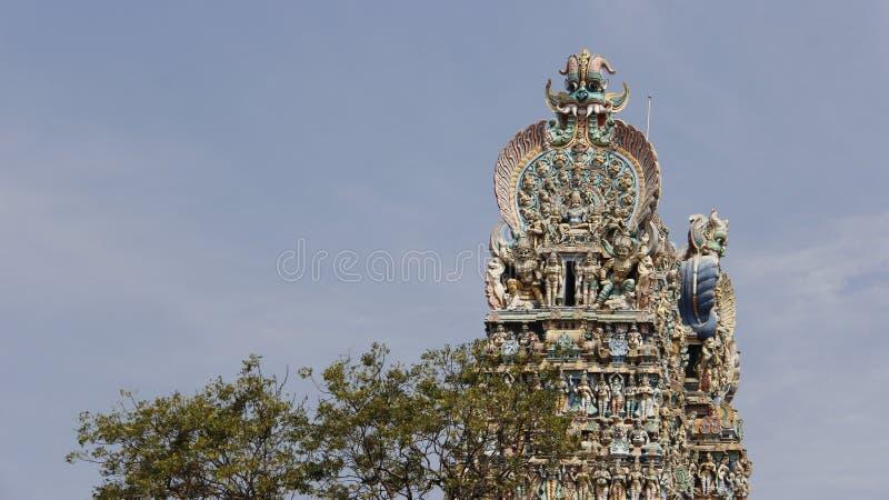 Coloré du temple hindou de Meenakshi Amman photo libre de droits