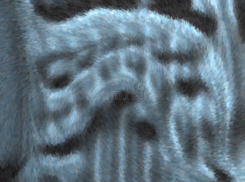 Coloré et ombragé avec la conception couvrante générée par ordinateur de fond d'image d'effet velu illustration stock