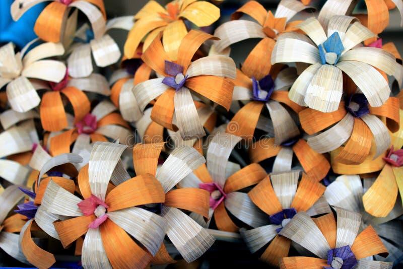 Coloré handcraft fait par le bambou images libres de droits