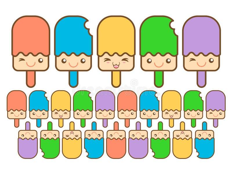 Coloré heureux de glace images stock