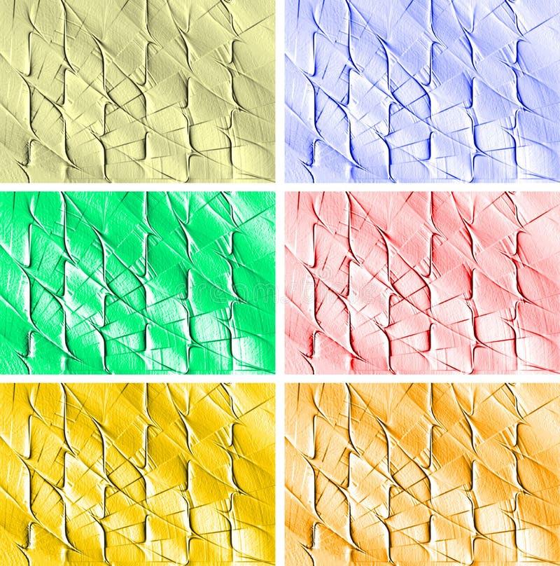 Coloré, ombragé et allumé avec la conception générée par ordinateur de fond d'image d'effet de 3 d illustration de vecteur