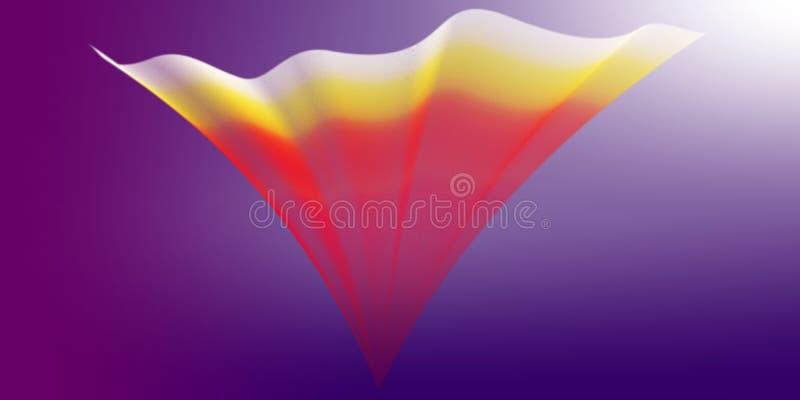 Coloré, onduleux, ombragé et allumé avec le fond d'image d'effet de 3 d et la conception générés par ordinateur de wallapaper illustration stock