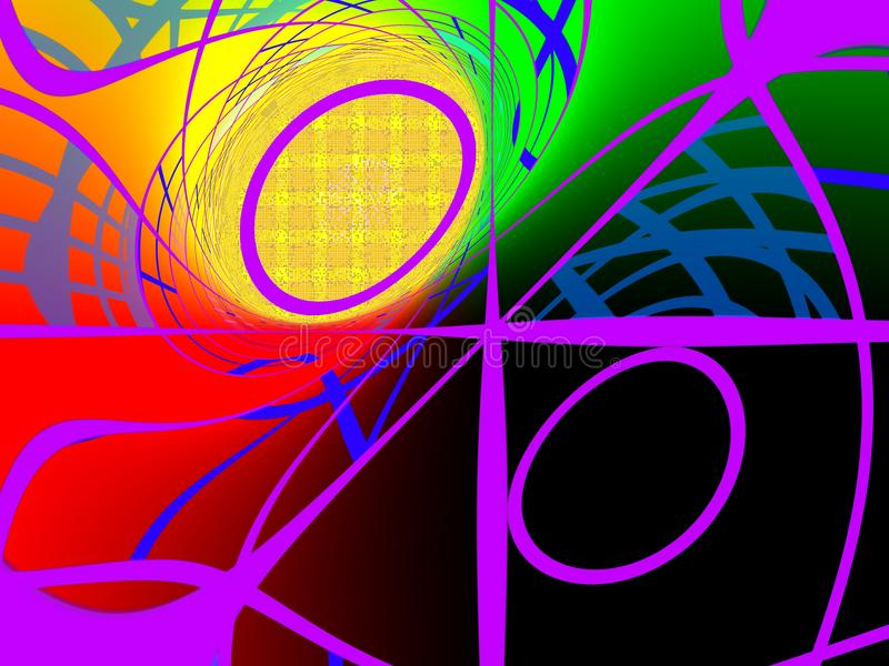 Coloré tourbillonné géométrique abstrait illustration de vecteur